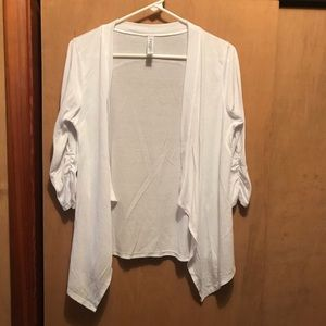 New Soybu Placid Sweater Jacket Women/'s Large Black//Gray
